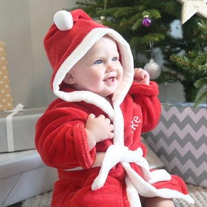 Personalised Red Santa Robe - top gifts for kids sale