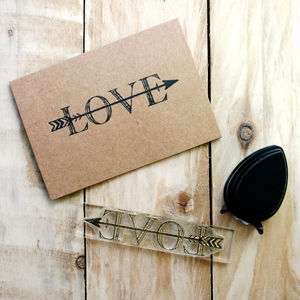 Cupid's Arrow Love Flexi Clear Stamp - wedding stationery