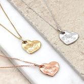 Personalised Precious Metal Hammered Heart Necklace - what's new