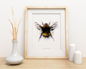 Manchester Bee Ink Splash Limited Edition Signed Print