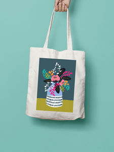 Flowers In A Vase Illustration Tote Bag