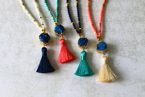 Children's Semi Precious Stone Tassel Necklace - whatsnew