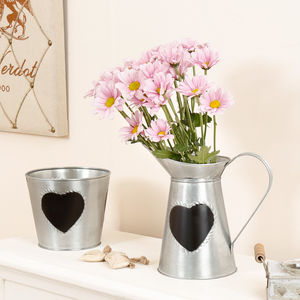 10th Anniversary Personalised Tin Pitcher And Planter - pots & planters