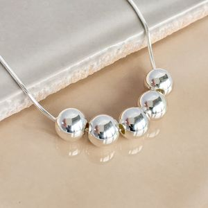50th Birthday Handmade Silver Bead Necklace - necklaces & pendants
