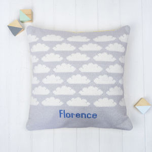 Personalised Clouds Knitted Cushion - cushions