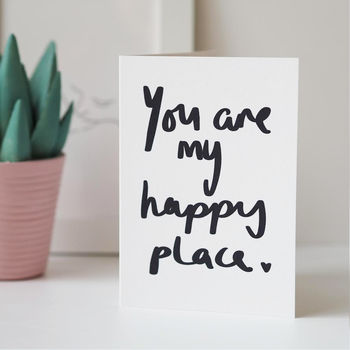 You Are My Happy Place Valentines Day Card