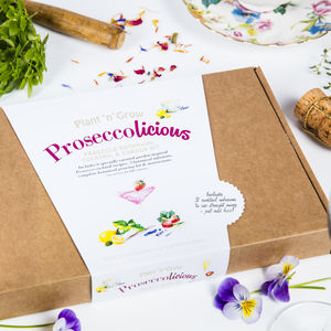Personalised Prosecco Licious Garden Cocktail Kit - prosecco gifts
