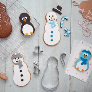 Snowman Cookie Cutter Set - kitchen