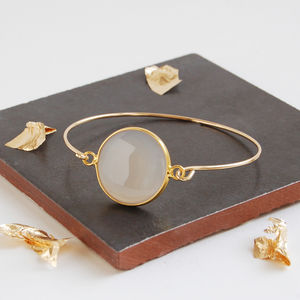 Gold Moonstone Bangle - bracelets & bangles