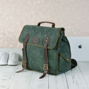 Waxed Canvas Waterproof Backpack For Hikers - 40th birthday gifts