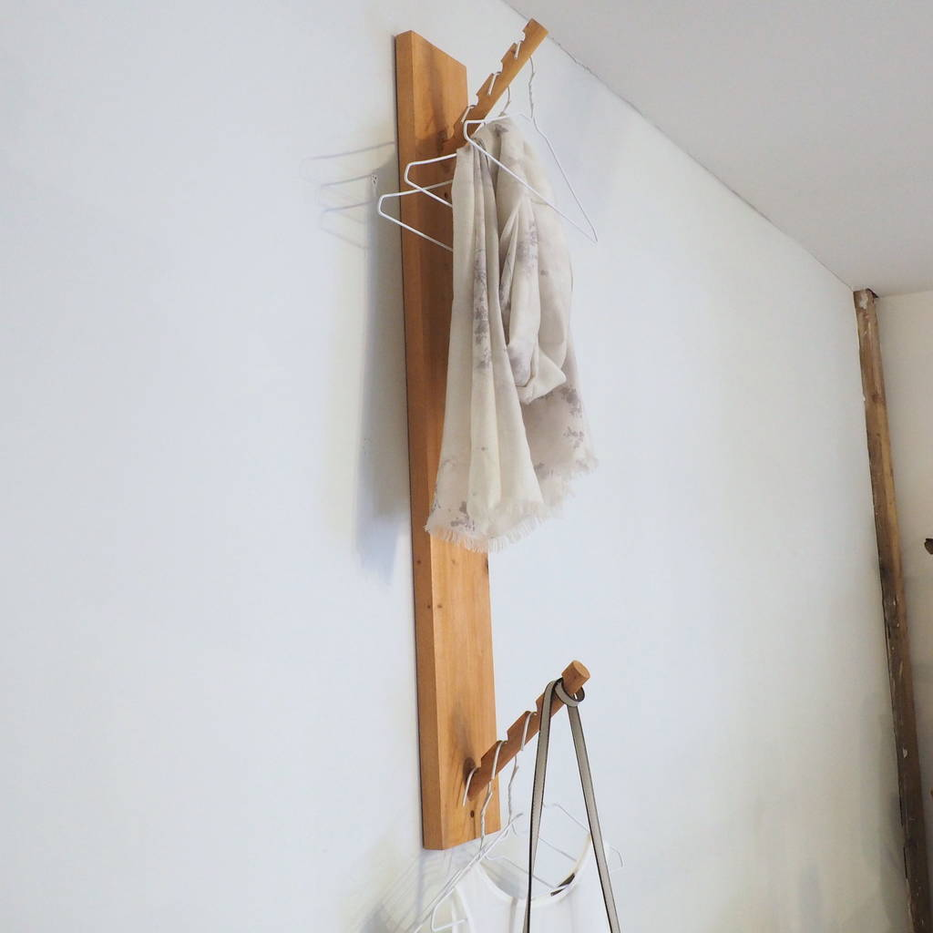 Wooden Clothes Hanging Hooks
