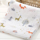 Little Fox Baby Muslin Bamboo Cotton Blanket