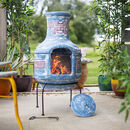 Yaku Two Piece Clay Chiminea And Grill