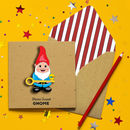 Handmade New Home Gnome Personalised Card