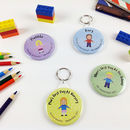 First Day At Pre School Or Nursery Badge Or Keyring