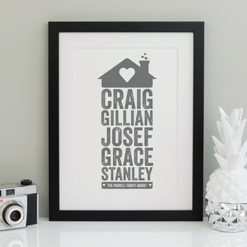 Personalised Home Family Print