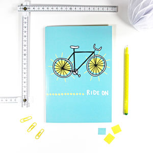 Bike Notebook For Cyclists - winter sale