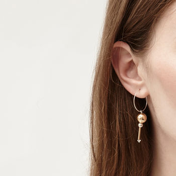 Nelson Ball Bar Earrings