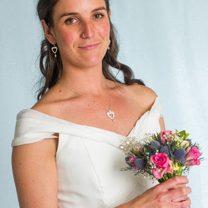 Heart And Pearl Maid Of Honour Necklace
