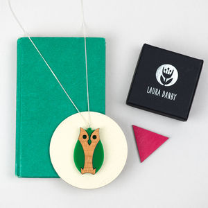 Owl Woodland Animal Necklace
