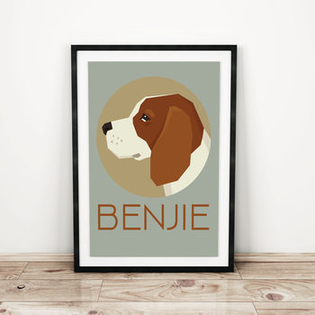 Personalised Dog Prints Different Breeds Available
