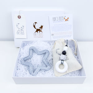Mumma And Me Metallic Marbled Silver Star Gift Set