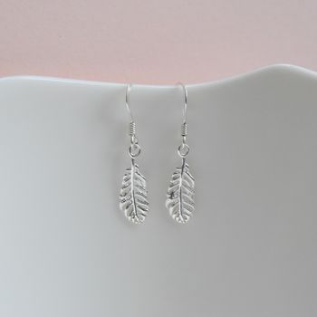 Sterling Silver Handmade Feather Earrings