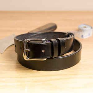 Vibe1 Classic Handstitched English Leather Belt - belts