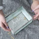 Personalised Textured Glass Jewellery Box