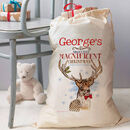 Personalised Christmas Gift Sack - magnificent stag design