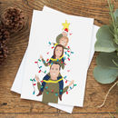Personalised Piggyback Portrait Christmas Cards