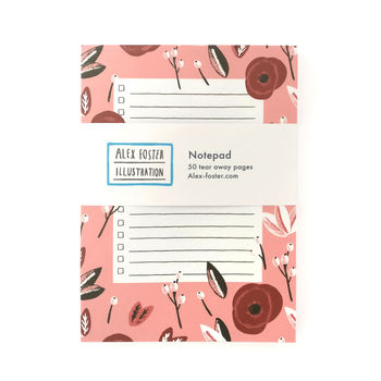 Poppies Illustrated Notepad To Do List