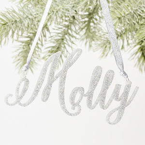 Glitter Personalised Christmas Decorations - baby & child sale