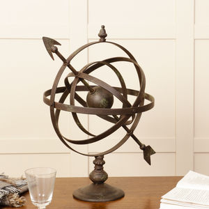 Personalised Large Metal Armillary Sphere Globe - decorative accessories