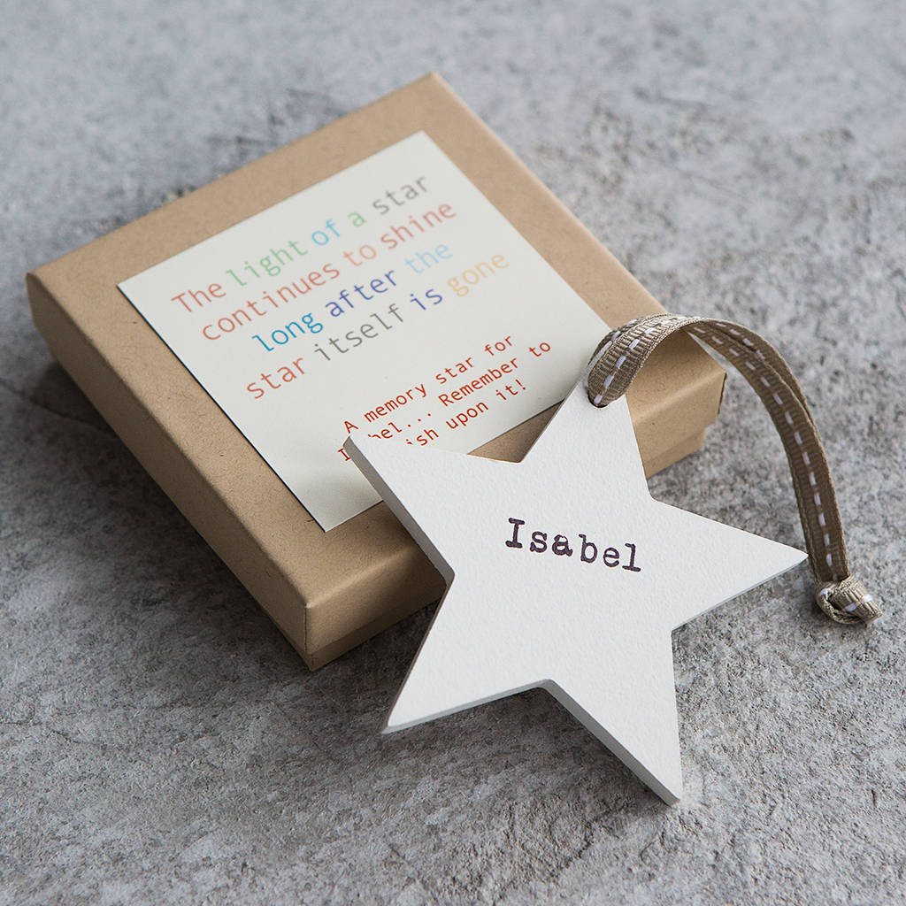 personalised wooden memory star by modo creative ... 1bada2745d62b