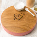 Personalised Wooden Cheese Block For Couples
