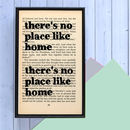 Housewarming 'No Place Like Home' Quote Print