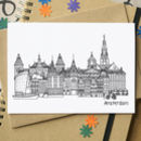 Amsterdam Skyline Cityscape Greetings Card