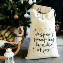 Personalised Bundle Of Joy Christmas Sack