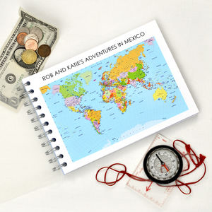 Personalised Travel Journal - personalised gifts