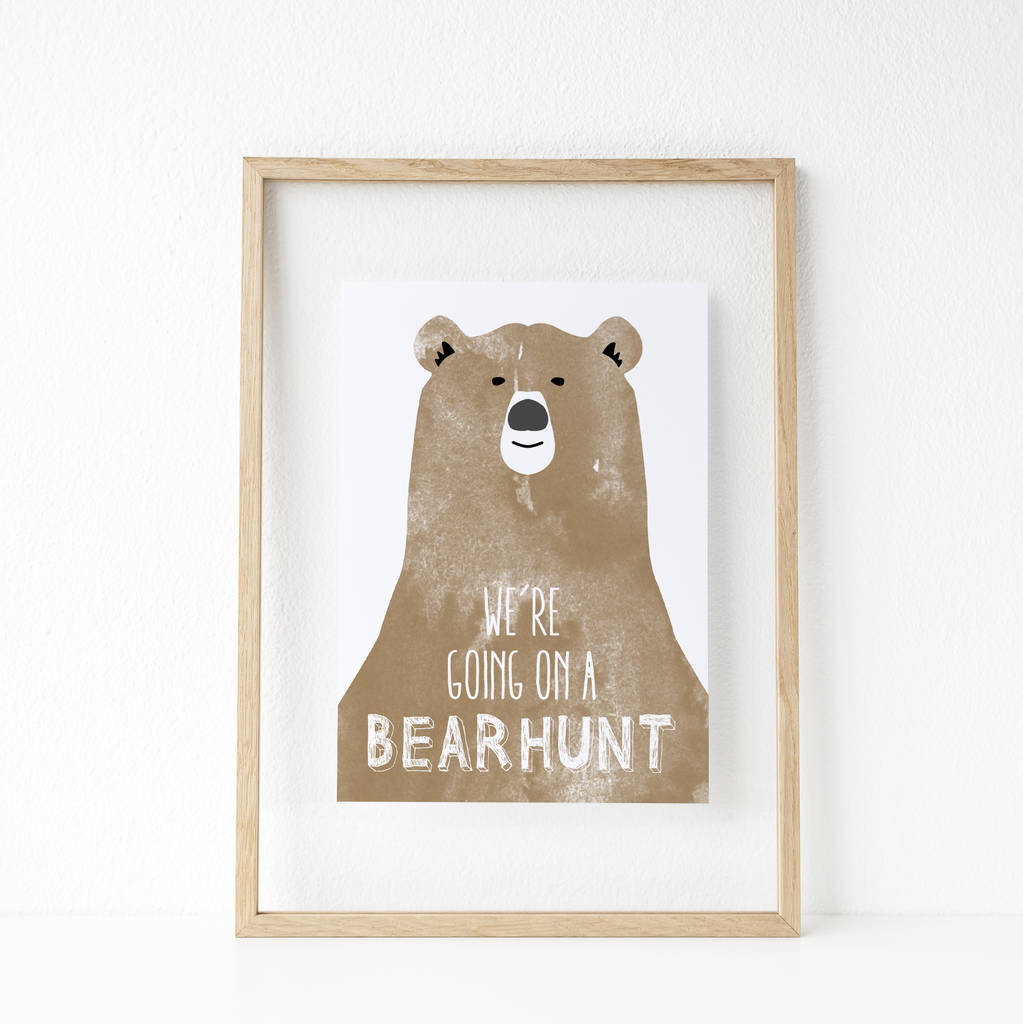 'We're Going On A Bear Hunt' Print