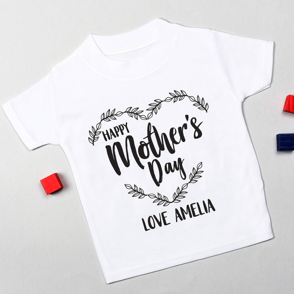 1e07eb84 personalised mother's day t shirt by little baby boutique ...