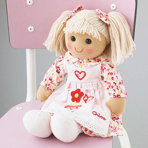 Personalised Rag Doll - soft toys & dolls