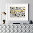 Metallic East London Map Print