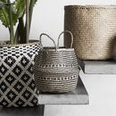 Boho Seagrass Basket With Black Detailing