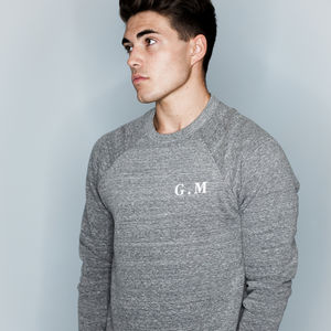 Personalised Initials Men's Sweatshirt Supersoft Luxury - personalised gifts