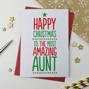 Amazing Aunt, Aunty, Auntie Christmas Card