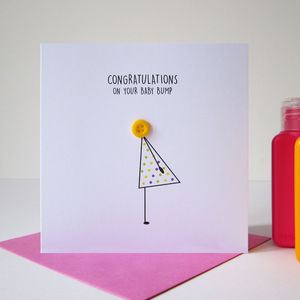 'Baby Bump' Congratulations Button Card