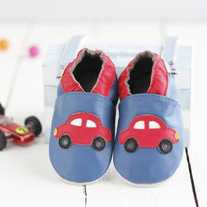 Red Cars Soft Leather Baby Shoes - shoes & footwear