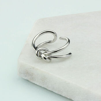 Adjustable Silver Infinity Ring